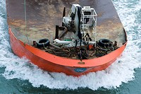 Fishing boat, close-up, high angle view (thumbnail)