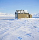 Trappers hut, Spitsbergen, Svalbard, Norway, Scandinavia, Europe