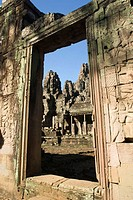 This ancient doorway leads to the main courtyard of Angkor Thom temple