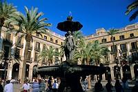 Placa Reial, Barcelona, Catalunya Catalonia Cataluna, Spain, Europe