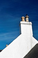 Chimney of a cottage in Bushmills Northern Ireland