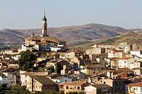 Ateca; destaca torre mudejar (XVI) de Iglesia de Santa Mari´a (XIII _ XIV); Comarca Comunidad de Calatayud; Zaragoza; Arago´n; Espan~a
