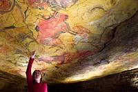Upper Paleolithic cave paintings in the Cave of Altamira replica. Santillana del Mar, Cantabria, Spain