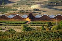Elciego (Álava). España. Panorámica de las Bodegas Ysios