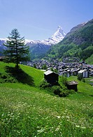 Zermatt and the Matterhorn mountain, Valais Wallis, Swiss Alps, Switzerland, Europe