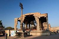 Statue of Nandi bull in a temple, Brihadishwara Temple, Thanjavur, Tamil Nadu, India