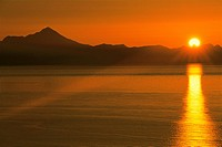 Sunset Mt Iliamna Cook Inlet Southcentral Alaska
