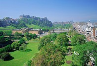 Edinburgh Castle and gardens, Edinburgh, Lothian, Scotland, UK, Europe