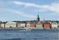 Gamla Stan I Stockholm, Boat In Water In Stockholm