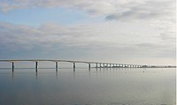 Ölandsbron, Bridge In The Sea By Cloudy Sky