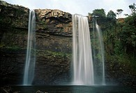 Vattenfall. Canaima, Venezuela. Low Angle View Of Waterfall From Cliff
