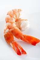 Peeled and cooked shrimp from a breeding _ PTO, peeled tail on