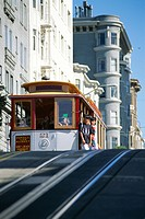 Cable car on Hyde Street, San Francisco, California, United States of America U.S.A., North America