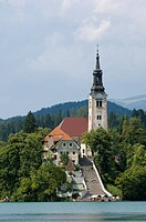 Lake Bled and St. Mary´s Church of the Assumption, Slovenia, Europe