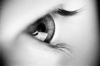 ARKIV_Öga I Profil. Svartvit RGB  Foto: Sofia Sabel / SCANPIX/ Kod: 76061, Close_Up Of Eyelash B/W