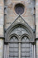 Architectural details of a cathedral, Nidaros Cathedral, Trondheim, Trondelag County, Trondelag, Norway