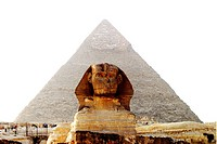 Sfinxen Vid Gizeh I Egypten, Great Pyramid And Sphinx