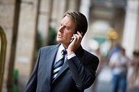 Business man on phone, Paris, France, Europe
