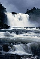 Tännforsen i Jämtland Tännforsen Waterfall In Jämtland, Sweden