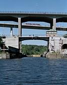 Västerbron I Höstdimma Från Långholmssidan, Bridge Over River, Low Angle View