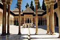 Court of the Lions, Alhambra Palace, UNESCO World Heritage Site, Granada, Andalucia Andalusia, Spain, Europe