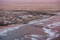 Aerial photo of Swakopmund, Namibia, Africa