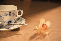A Coffee Cup And A Flower