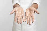 Chef's hands in oil close_up