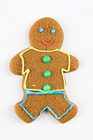 Gingerbread man cookie.