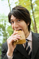 The Businessman Who Eats Sandwich (thumbnail)