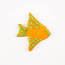 Sugar cookie in shape of a fish with decorative icing