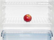 Red apple in fridge close-up (thumbnail)