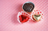 Three chocolates close_up