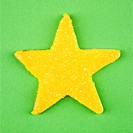 Star sugar cookie with decorative icing.