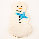 Snowman sugar cookie with decorative icing