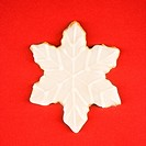 Snowflake sugar cookie with decorative icing