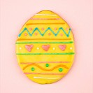 Easter egg sugar cookie with decorative icing