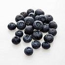 Group of blueberries on white background