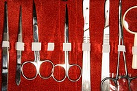 Medical kit with tweezers, scissors, scapel (thumbnail)