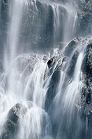 Bridal Veil Falls, near Valdez, Alaska, United States of America, North America