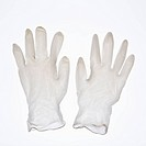 Rubber gloves on white background (thumbnail)