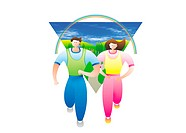 Couple Jogging (thumbnail)