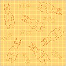 Design arts, wallpaper, indoors, background, rabbit, decorative art, pattern (thumbnail)