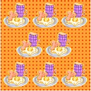 indoors, wallpaper, background, toast, breakfast, design arts, pattern