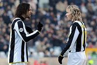 amauri and pavel nedved ,torino 11_01_2009 ,serie a football championshup 2008_2009 ,juventus_siena 1_0,photo giuliano marchisciano/markanews