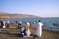 spiaggia sul mar morto, giordania, asia