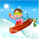 snowboard, snow, sports, girl, chirstmas, winter