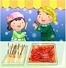 couple, snow, boy, girl, chirstmas, child