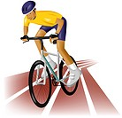 bicycle, games, sports equipment, outdoors, athlete, Olympic