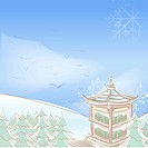 snowflake, season, snowing, snow, winter, hill, background